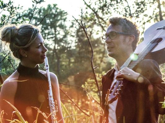 Koncert med Villén & Sjølin på tværfløjte og guitar